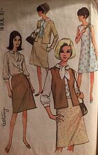 "CUT VINTAGE RARE MC CALL'S 1966 SEPARATES PATTERN 8189  SIZE 42 - 44"" B"