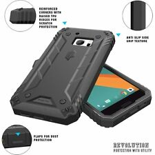 Poetic Revolution Case w/ Built-In Screen Protector for HTC 10 2016 Black