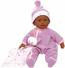 JC Toys, La Baby 11-inch African American Washable Soft Body Play Doll For 18 or