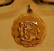HOMESTAKE MINING PENDANT SAFETY AWARD 10K GOLD-FILLED BEAUTIFUL CONDITION