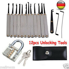 12pcs Pick Set Klar Lock Cutway Practical Unlocking Tool Hook Sicherheitsschloss