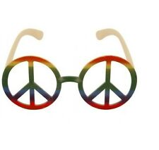 Hippy Hippy 60s 70s Arco Iris De Paz Gafas Festival Fancy Dress Gafas