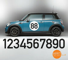 Race Roundels / Rally numbers / Racing car door numbers - 400mm Diameter