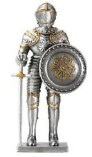 Medieval French Knight in Armour with Shield and Sword Pewter Figurine