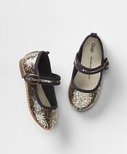 Baby Gap Girl's Rainbow Glitter Mary Jane Ballet Flat Shoes Size 8 NWT