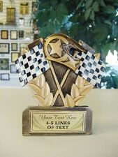 THREE DIMENSIONAL RACING TROPHY CAR SHOW RESIN AWARD FREE LETTERING