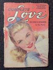 1958 Nov COMPLETE LOVE Pulp Fiction Magazine VG- Hope Marlow