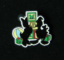 Donald and Daisy Christmas Silhouette Hidden Mickey DLR Disney Pin