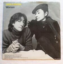 John Lennon & Yoko Ono . Woman . 1980 Geffen Records 45 rpm VG+ & Picture Sleeve