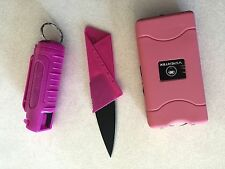 Self Defense Personal Protection Stungun Flashlight,Mace Pepper Spray, Knife Kit
