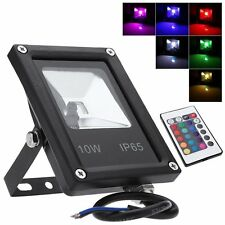 Super Thin 10W LED Flood Light IP65 Outdoor Garden Landscape Yard RGB Lamp BY