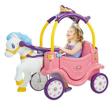 Little Tikes 2-in-1 Princess Horse & Carriage Push Pull Foot Powered Toy Cart