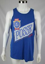 Obey Posse Mens Size XL Blue 100% Cotton Sleeveless Graphic Tank Top Shirt