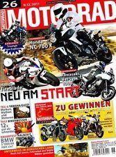 M1126 + Fahrberichte HONDA NC 700 X + HONDA Fireblade SC59 + MOTORRAD 26/2011
