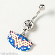 14G Belly Piercings Wonder Woman Body Jewelry Navel Belly Button Ring DC Comics