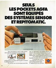 Publicité Advertising 1977 Appareil photo Agfamatic pocket par Agfa