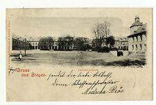 AK Gruss aus Siegen Villen unteres Schloss 1900