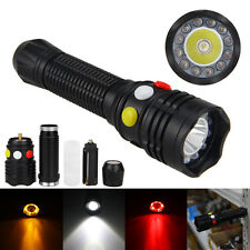 12LED 3000LM CREE Q5 LED Flashlight Signal 18650 Light Charger Yellow White Red