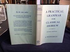 A Practical Grammar For Classical Hebrew 1972 J. Weingreen Rare Book Bible Study