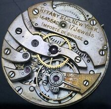 VINTAGE TIFFANY & CO NEW YORK 25mm WATCH MOVEMENT FOR PARTS REPAIR