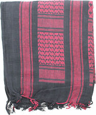 "Black & Red Lightweight Shemagh Arab Tactical Desert Keffiyeh Scarf 42"" x 42"""