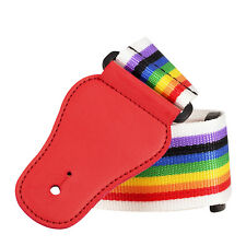 1534 MULTI COLOUR RAINBOW guitar STRAP red head retro special DEAL fashion UK
