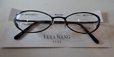 Vera Wang Luxe Titanium Epiphany I Black 49/17 Eyeglass Frame New