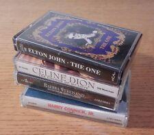 4 Cassette lot: Elton John, Celine Dion, Barbra Streisand, Harry Connick Jr
