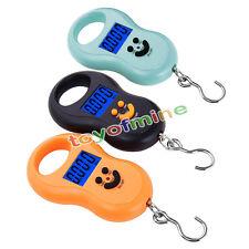 Hanging échelle 50 kg / 5g numérique BackLight bagages Pêche Pocket Poids Kg Lb