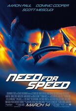 Need For Speed movie poster (b)  : 11 x 17 inches - Aaron Paul poster