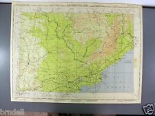 US ARMY AIR FORCE MAP AERONAUTICAL PILOT CHART WW2 1944 GODAVARI RIVER INDIA 674