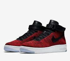 Nike AF1 Air Force 1 Ultra Flyknit Mid Red Black White Size UK 7 EU 41 New
