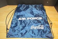 Coca-Cola AIR FORCE blue nylon drawstring bag backpack