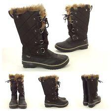 Sketchers Sketch-Tex Black Fur Waterproof Outdoor Performance Snow Boots SZ 7.5
