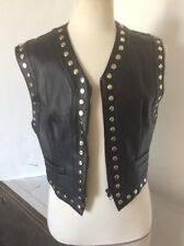 Vintage Dolce Gabbana Studded Faux Leather S&M 50 Shades Mens Vest Large Rare