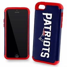 New England Patriots Apple iPhone 5c 5s 5 and SE Dual Hybrid 2 Piece Case