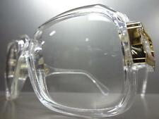 VINTAGE HIP HOP Style CLEAR LENS EYE GLASSES Cool Transparent & Gold PIMP FRAMES