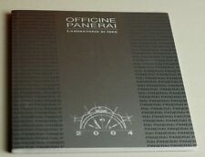 Officine Panerai Watch Laboratorio Di Idee 2004 Catalogue Brochure 76 Pages NEW