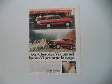 advertising Pubblicità 1980 JEEP CHEROKEE CHIEF