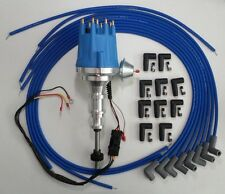 FORD Y Block 239-272-292-312 BLUE Electronic Distributor + Spark Plug Wires 90s