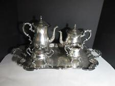 Vintage Leonard Silver Plate Tea And Coffee Set