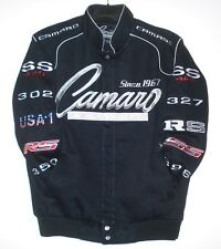 Chevrolet Camaro Embroidered Racing Cotton Black  Jacket  JH Design XXXXL