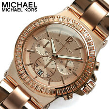BRAND NEW MICHAEL KORS MK5412 DYLAN ROSE GOLD GLITZ CHRONOGRAPH WOMEN'S WATCH