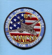 ROCKWELL B-1 LANCER BONE USAF Bomber Squadron Jacket Patch FFF
