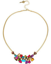 BETSEY JOHNSON CARNIVAL STONE CLUSTER NECKLACE NWT