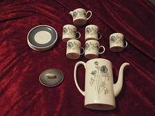 Susie Cooper Tea Set Glen Mist C1035-Tea Pot-Creamer-Cups-Saucers-LOOK