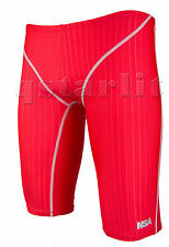 Man Male Racing Competition Training Swimwear Jammer Trunk Size 38 4XL Red