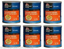 6 Cans - Chicken Teriyaki with Rice- Mountain House Freeze Dried Emergency Food
