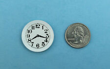 1:12 Scale Dollhouse Miniature Simple White Round Wall Clock #S5862