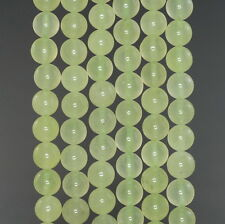 8MM  JADE GEMSTONE GRADE A PREHNITE GREEN ROUND LOOSE BEADS 15""